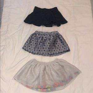 Set of 3 toddler girl skirts, 12 months